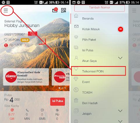 Cara Tukar Poin Telkomsel Menjadi Saldo TCASH