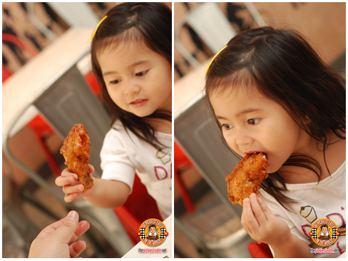 eating bonchon chicken
