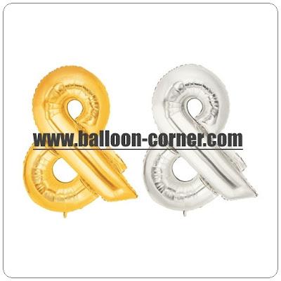 Balon Foil Huruf Ampersand (&) / Foil Tanda Baca DAN