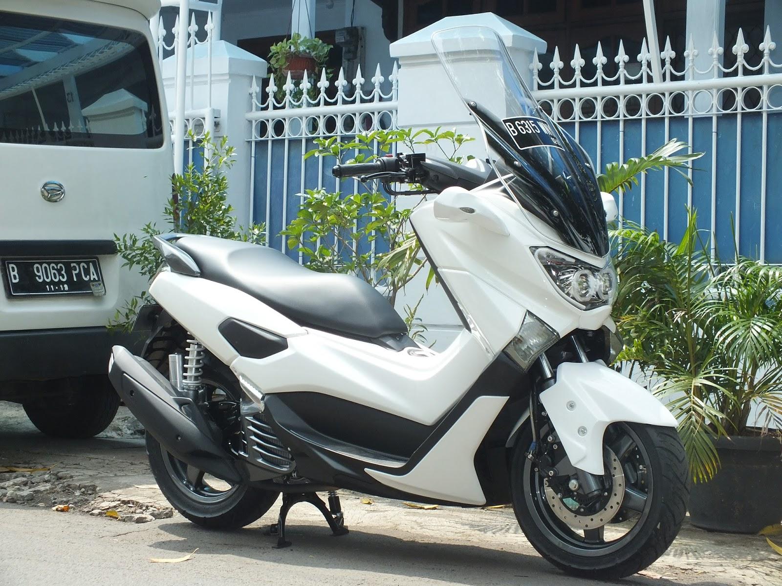 50 Modifikasi Yamaha Nmax Warna Putih Modifikasi Yamah Nmax
