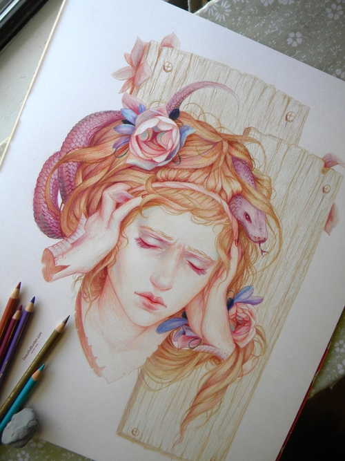 02-Sensory-Overload-Jennifer-Healy-Traditional-Art-Color-Pencil-Drawings-www-designstack-co