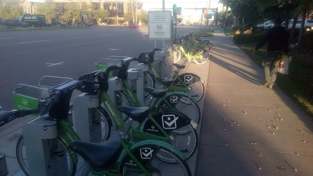 The GreenBike station at Sheraton Salt Lake City