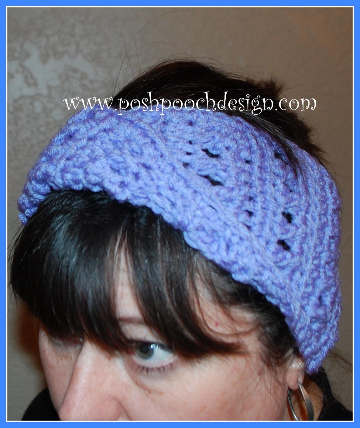 Free Knitting Pattern Twisted Headband : Posh Pooch Designs Dog Clothes: Twisted Headband Crochet ...