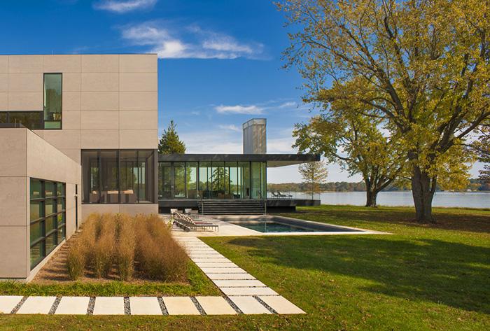Casas minimalistas y modernas casa minimalista en el rio avon for Casa minimalista vidriada