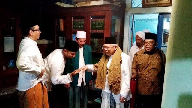 KH Ma'ruf Amin Dapat Dukungan dari KH Nawawi Abdul Jalil Sidogiri