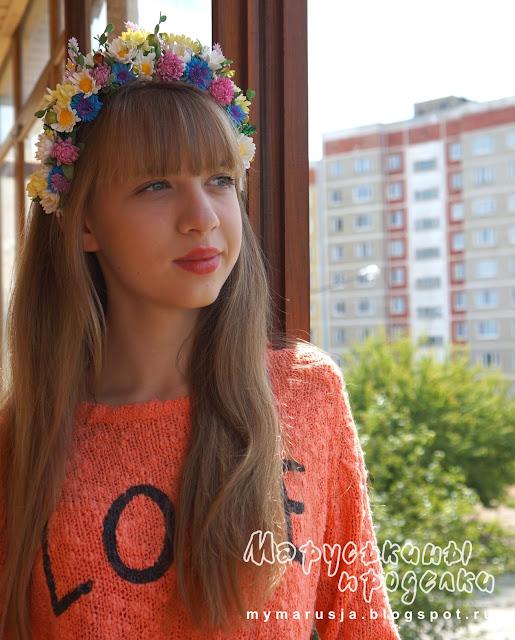 ободки с цветами фото