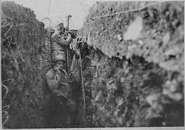 In the streets of Monastir (Bitola) (February 1917). 1st lines in front of Monastir (Bitola): Artillery observation post