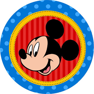 Mickey Birthday Party: Free Printable Cupcake Wrapper and Toppers.