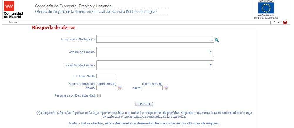 Ofertas de trabajo y recursos de empleo c mo puedes for Portal empleo madrid