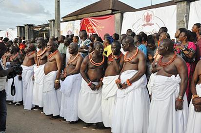 Cross section of Benin chiefs