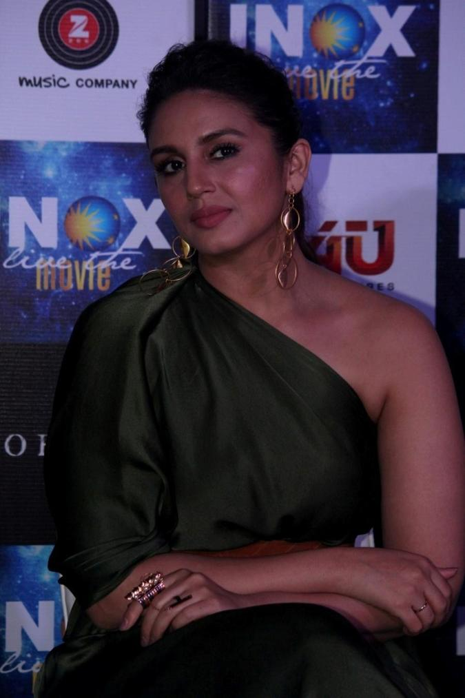 Huma Qureshi Stills In Green Top Hindi Song launch In Mumbai