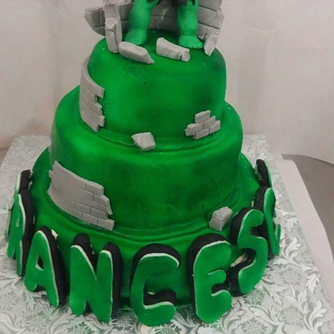 Torte Compleanno Bambini Hulk.Michela Cake Designer Hulk Per Il Piccolo Francesco