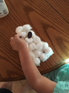 Toddler Fun: Cotton-Ball Ghost