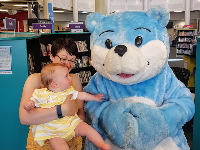 Living Arrows Bookstart Bear for National Bookstart Week UK family lifestyle autism blog