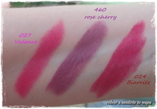 Labiales Mate de Peggy Sage - Swatches