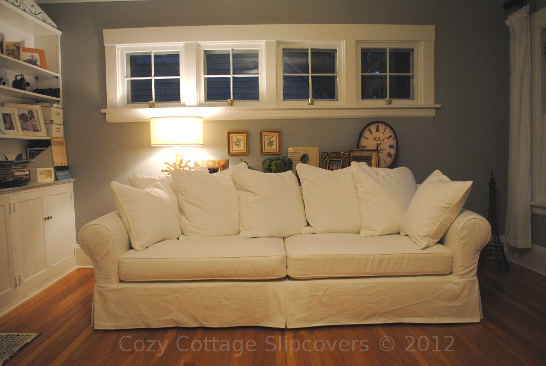 Pillow Back Sofa Slipcover
