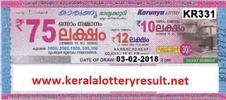 KERALA LOTTERY, kl result yesterday,lottery results, lotteries results, keralalotteries, kerala lottery, keralalotteryresult, kerala lottery result, kerala lottery result live, kerala lottery results, kerala lottery today, kerala lottery result today, kerala lottery results today, today kerala lottery result, kerala lottery result 03-02-2018, Karunya lottery results, kerala lottery result today Karunya, Karunya lottery result, kerala lottery result Karunya today, kerala lottery Karunya today result, Karunya kerala lottery result, KARUNYA LOTTERY KR 331 RESULTS 03-02-2018, KARUNYA LOTTERY KR 331, live KARUNYA LOTTERY KR-331, Karunya lottery, kerala lottery today result Karunya, KARUNYA LOTTERY KR-331, today Karunya lottery result, Karunya lottery today result, Karunya lottery results today, today kerala lottery result Karunya, kerala lottery results today Karunya, Karunya lottery today, today lottery result Karunya, Karunya lottery result today, kerala lottery result live, kerala lottery bumper result, kerala lottery result yesterday, kerala lottery result today, kerala online lottery results, kerala lottery draw, kerala lottery results, kerala state lottery today, kerala lottare, keralalotteries com kerala lottery result, lottery today, kerala lottery today draw result, kerala lottery online purchase, kerala lottery online buy, buy kerala lottery online