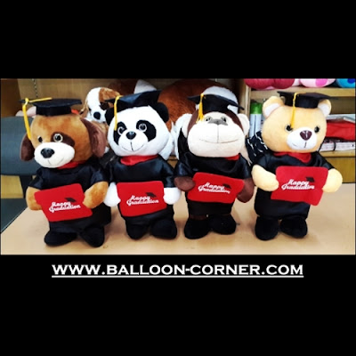 Boneka Happy Graduation / Boneka Wisuda (Ukuran 14 Inchi)