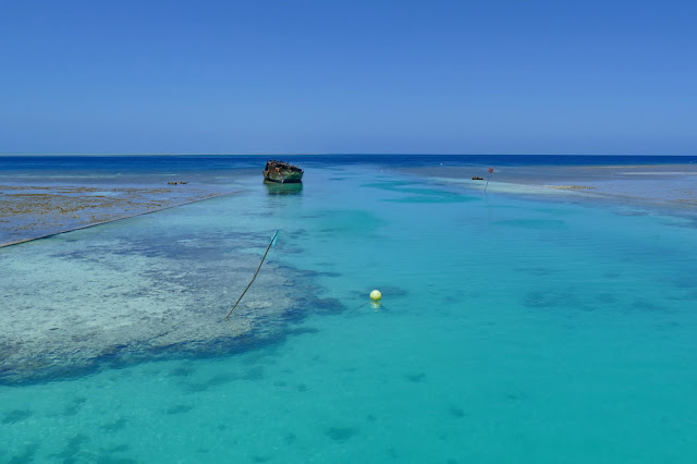 Wrack Riff Heron Island Insel Meer Spurrine Schiff