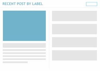 Cara Membuat Featured Post dari Posting Terbaru per Label di Blogger