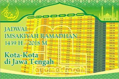 Jadwal Imsakiyah 2018 Semua Kota di Jawa Tengah