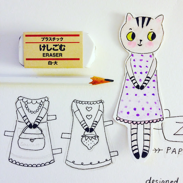 The Cutest Paper Doll Ever | Zoë the Tabby Cat | Linzer Lane Blog