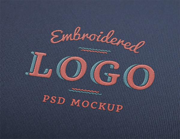 Download Logo Mockup PSD Terbaru Gratis - Embroidered Logo Mockup