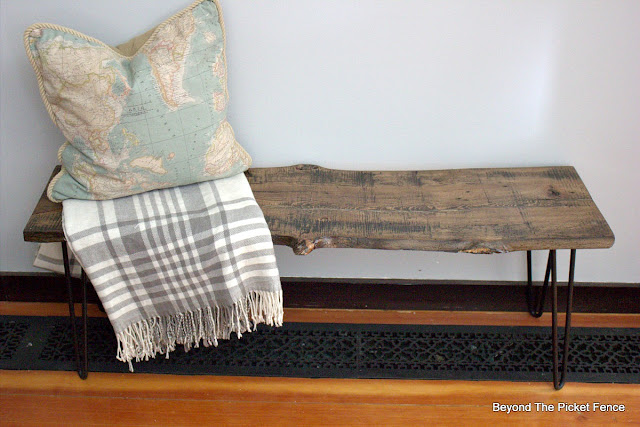 rustic live edge bench or coffee table