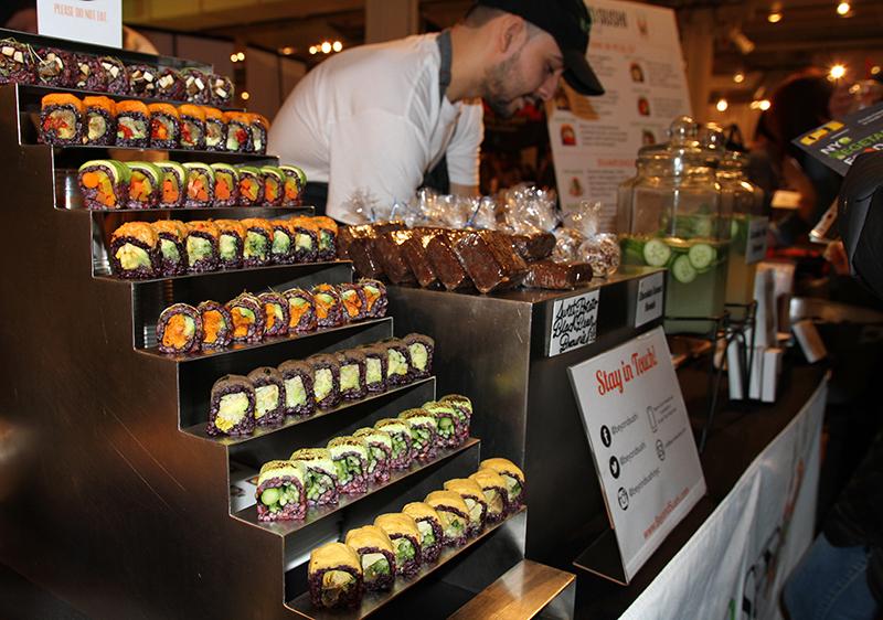Veganreise New York NY Vegetarian Food Festival Beyond Vegan Sushi