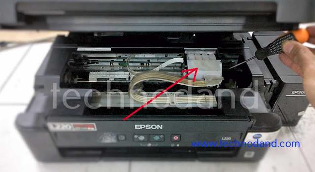 Printer Epson L220 tinta tidak keluar