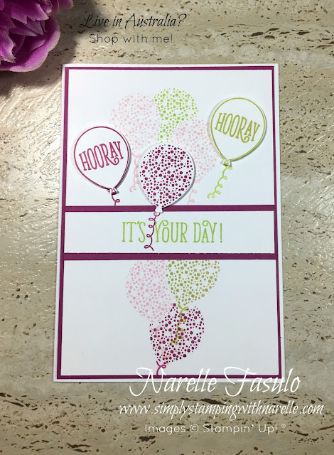 A versatile stamp set and matching die allowing you to easily make all the Birthday cards you need. Don't buy mass produced cards, show someone how special they are to you  by making them a one off handmade card. Get  your supplies here - http://bit.ly/2fJOMhF - Simply Stamping with Narelle