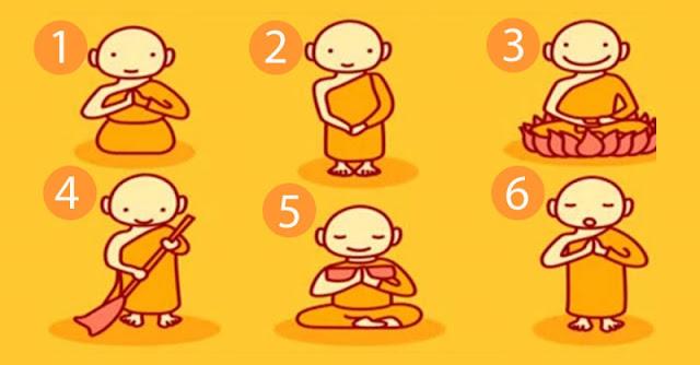 Elige uno de estos monjes budistas y descubrirás un mensaje para tu vida