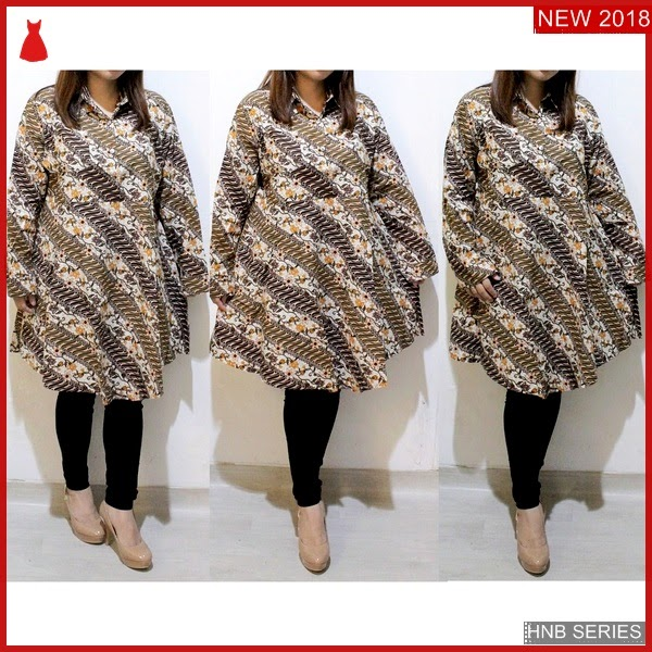 HNB263 Model Dress Batik Ukuran Besar Jumbo Modis BMG Shop