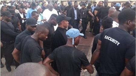 Big Man! The Number of Security Men Guarding Senator Buruji Kasahmu Will Shock You (Photos)