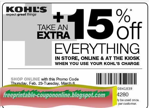 Online coupon codes for kohls free shipping