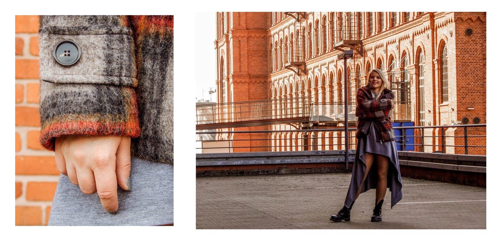 3a płaszcz - ubranie, moda polska, hot moda, moda damska jesień 2018, moda for you, net moda, blog, blogerki fashion łódź anataka kurtka w kratkę ciepła kurtka stylizacje w co się ubrać eleganckie kurtki blondynka
