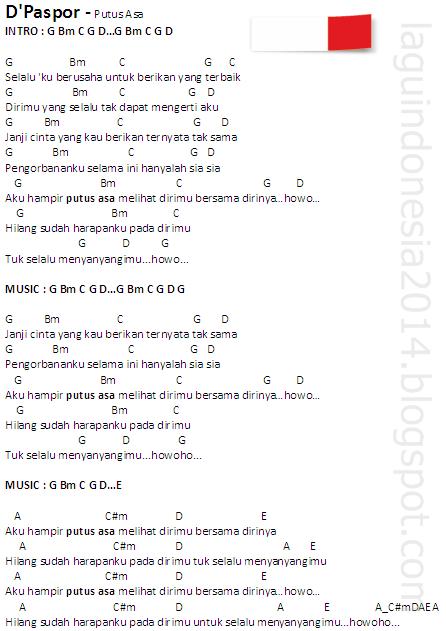 Chord Gitar The Paspor : chord, gitar, paspor, Chord, Guitar, Putus, D'Paspor