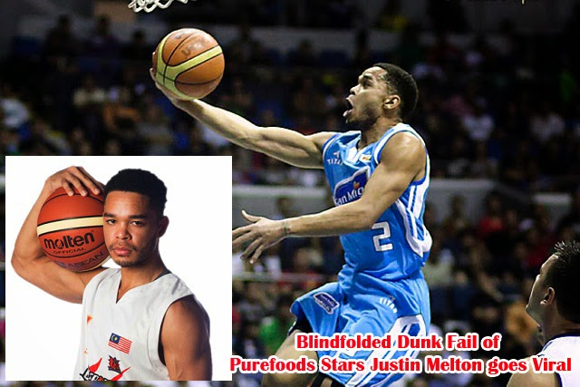 Blindfolded Dunk Fail of Purefoods Stars Justin Melton goes Viral