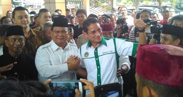 Tiga Hal Dari Prabowo Untuk Sandiaga Uno