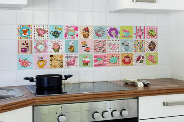Adesivo com vários desenhos para cozinha