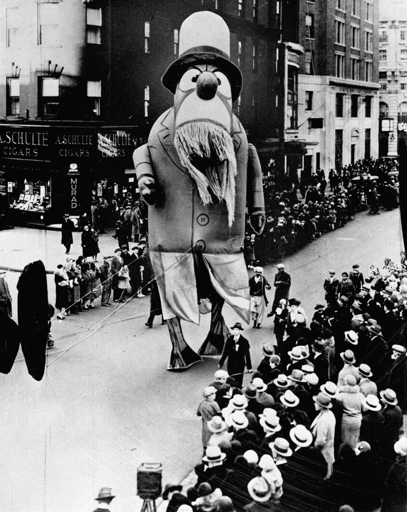 A Large Outdoor Float Of Captain Nemo Makes Its Way Down The Street During Macys Thanksgiving Day Parade In New York City On Nov 28 1929