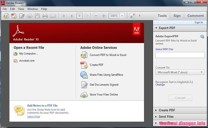 Download Adobe Reader 11 - Đọc file định dạng PDF