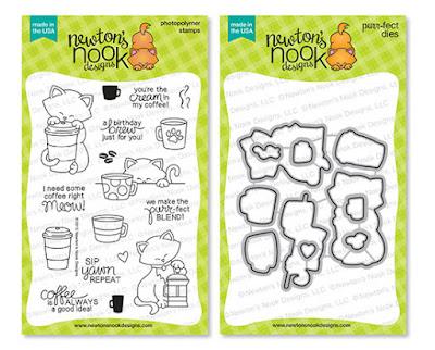 Newton Loves Coffee Stamp Set by Newton's Nook Designs #newtonsnook