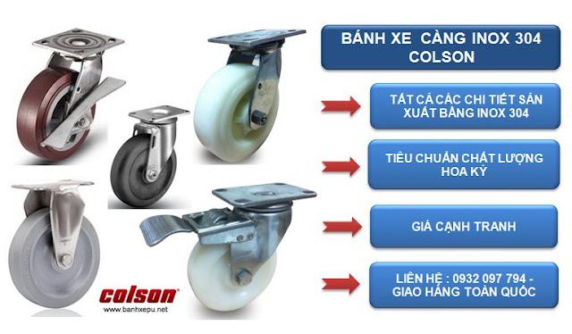 Bánh xe công nghiệp Colson tại Biên Hòa Đồng Nai www.banhxepu.net