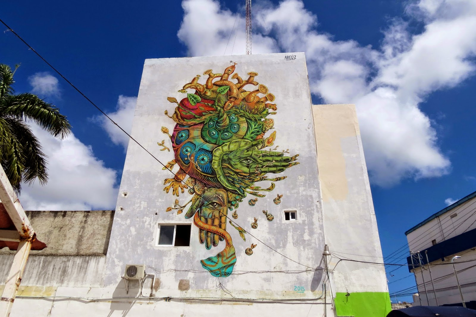 Mexican artist Gonzalo Areúz recently spent some time on the streets of Cancun, Mexico for the FIAP 2015 Street Art Festival.
