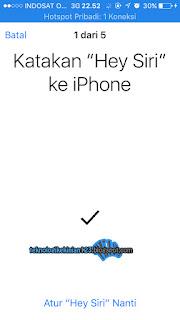 mengaktifkan siri di iphone
