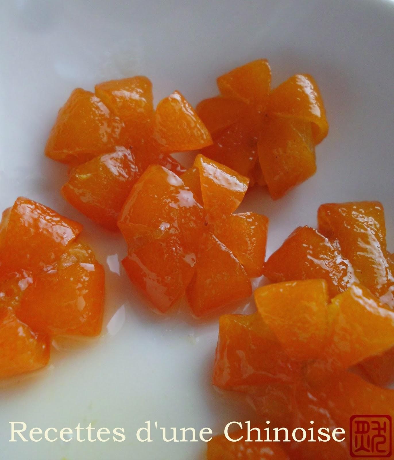 Recettes d\u0027une Chinoise Kumquats confits 蜜金桔 mì jīnjú
