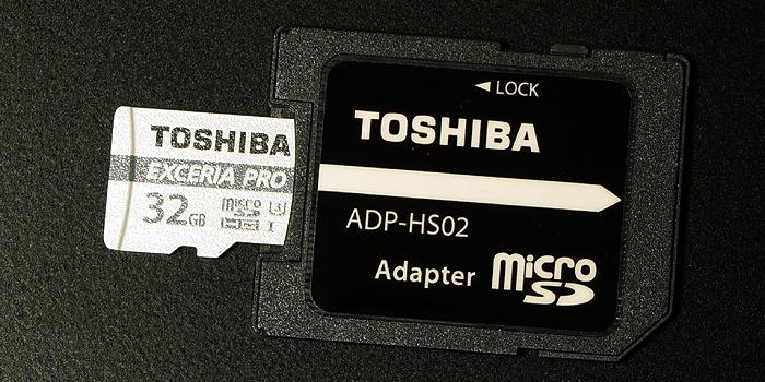 東芝 EXCERIA PRO M401 カード本体のデザイン