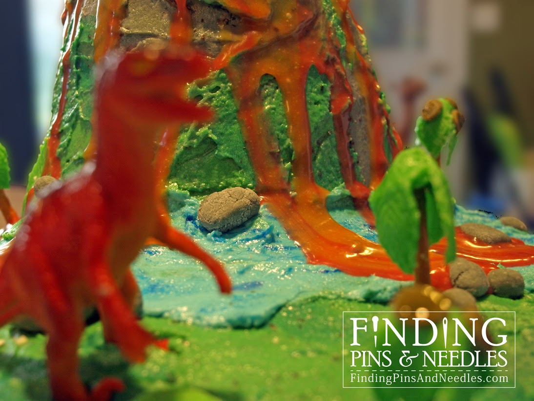 Finding Pins And Needles Dino Island Cake