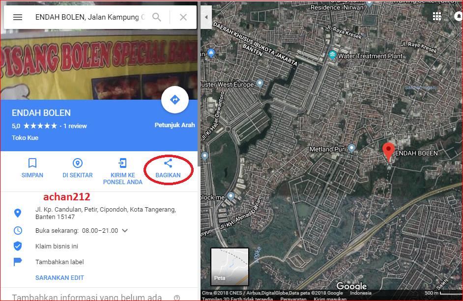 berisi letak lokasi di google maps